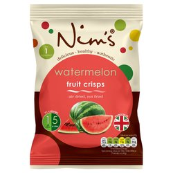 12 x Watermelon Fruit Crisps (Air-Dried) by Nim's 22g
