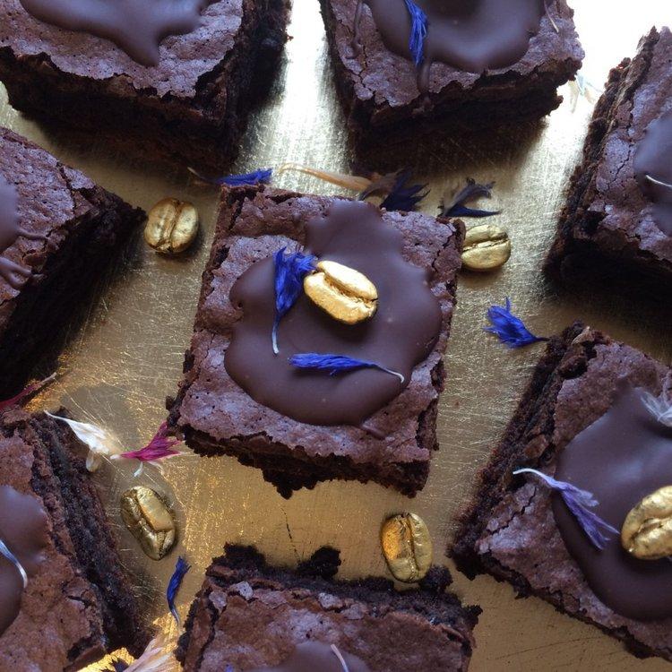12 Vegan Espresso Coffee Chocolate Brownies