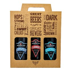 3 Craft Beer Bottle Gift Box with Victorian Mild, Hopspur Amber Ale & Big Chief IPA