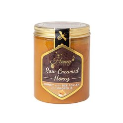 Raw Creamed Hungarian Bee Pollen Honey with Propolis 400g