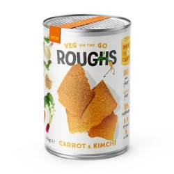12 Carrot & Kimchi Crispy Vegetable Vegan 'Roughs' Snack Tins (12 x 20g)