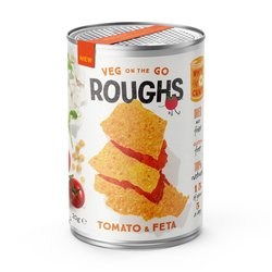 12 Tomato & Feta Cheese Crispy Vegetable 'Roughs' Snack Tins (12 x 20g)