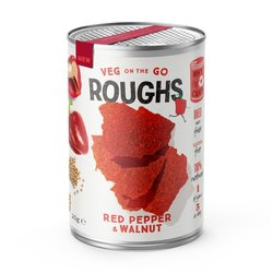 12 Red Pepper & Walnut Crispy Vegetable 'Roughs' Vegan Snack Tins (12 x 20g)
