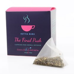 'The Final Push' Pregnancy Tea - Caffeine-Free Herbal Infusion 15 Whole Leaf Tea Bags
