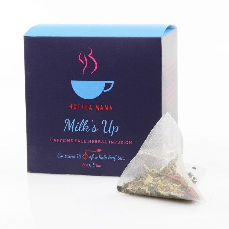 'Milk's Up' Breastfeeding Tea - Caffeine-Free Herbal Infusion 15 Whole Leaf Tea Bags