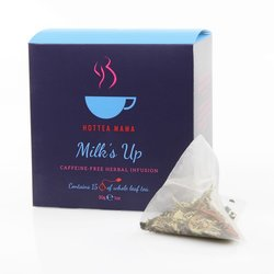 'Milk's Up' Breastfeeding Tea - Caffeine-Free Herbal Infusion 15 Whole Leaf Tea Bags