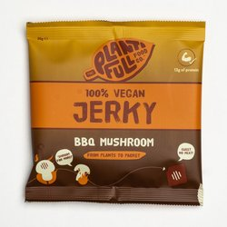 12 BBQ Mushroom Vegan Jerky Snack Packs (12 x 30g)
