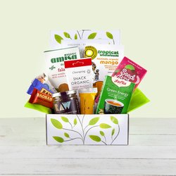'Organic Goodness' Natural Hamper Gift Box Inc. Falafel Mix, Snacks & Nut Spread