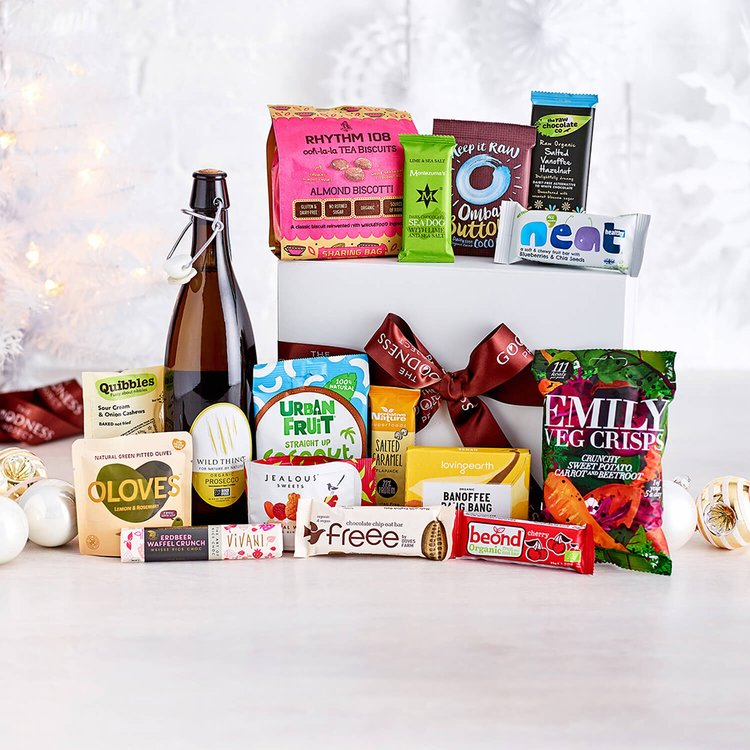 'The Wild Thing' Vegan Prosecco & Snack Hamper Gift Box Inc. Vegetable Crisps & Chocolate