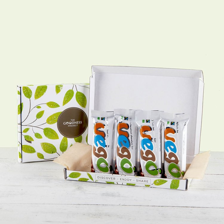 4 Mini Vego Vegan Chocolate Bar Snack Gift Box (4 x 65g)