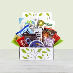 'Fantastic Snacktastic' Hamper Gift Box Inc. Vegetable Crisps, Peanut Butter & Raw Chocolate