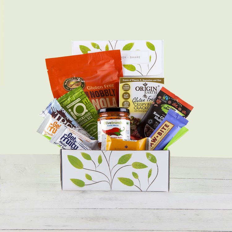 'Glorious Gluten-Free Natural Hamper' Gift Box Inc. Crackers, Granola & Salted Caramel Truffles