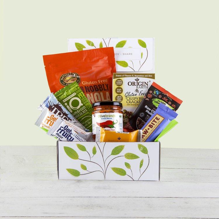 'Glorious Gluten-Free Natural Hamper' Gift Box Inc. Crackers, Granola & Salted Caramel Truffles