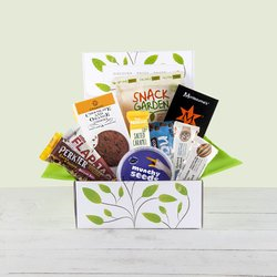 Gluten-Free Snack Hamper Gift Box Inc. Chocolate, Biscuits & Flapjacks