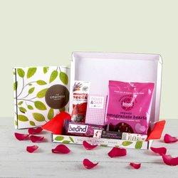 Mini 'Love Chocolate & Snack' Gift Box Inc. Sweets, Chilli Nuts & Chocolate Bar