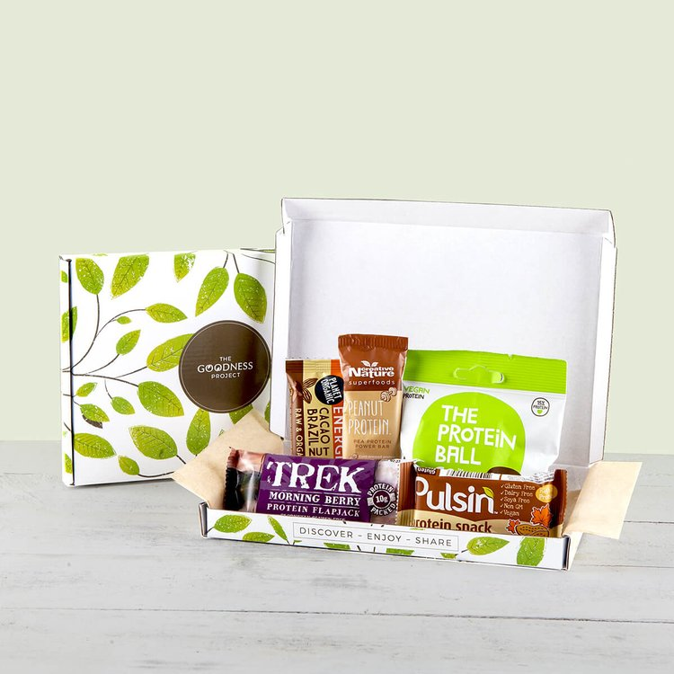 Mini 'Vegan Protein Power' Snack Bar Gift Box Inc. Pulsin, Trek & Creative Nature Bars