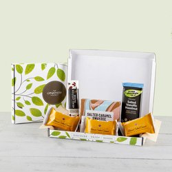 Salted Caramel & Nougat Treat Gift Box Inc. Booja Booja Truffles & Chocolate Bars