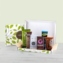 Superfood Chocolate Snack Bar Gift Box Inc. Doisy & Dam, Ombar & Pulsin Bars