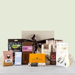 The Ultimate Organic Chocolate Chaos' Vegan Gift Hamper Inc. Chocolate Thins, Cacao Nibs & Booja Booja Truffles