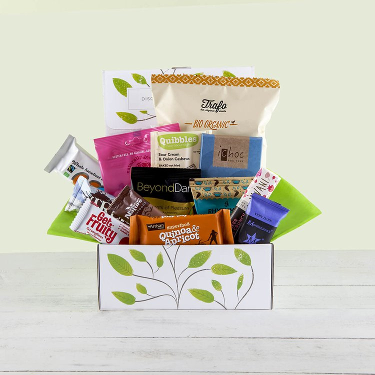 Vegan Chocolate & Snack Gift Hamper Inc. 13 Vegan Chocolate & Snack Bars