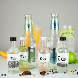 Edinburgh Gin & Tonic Gift Set Inc. Elderflower and Plum & Vanilla Liqueurs
