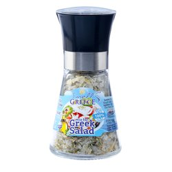 Salt & Pepper Glass Grinder Blend for Greek Salad 50g