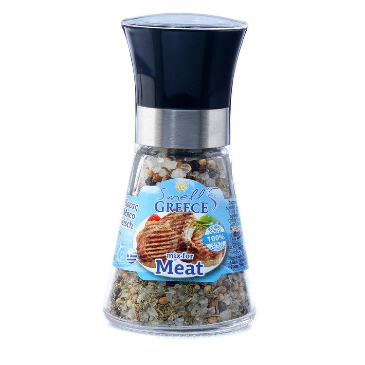 Salt & Pepper Glass Grinder Blend for Meat 50g