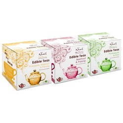 3 x Edible Fruit & Vegetable Loose Leaf Tea Infusions Inc. Beetroot, Pineapple, Kiwi & Parsnip