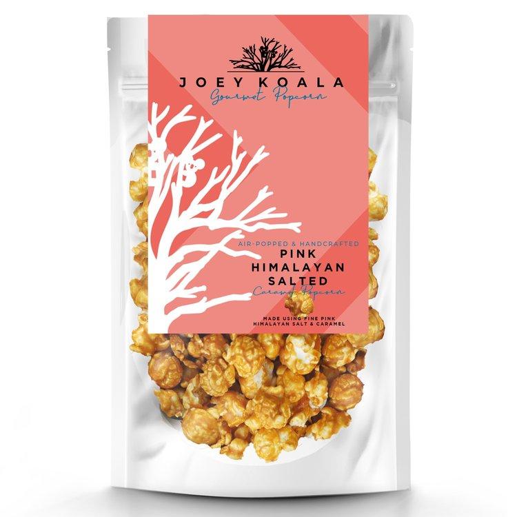 Air-Popped Pink Himalayan Salted Caramel Gourmet Popcorn 80g