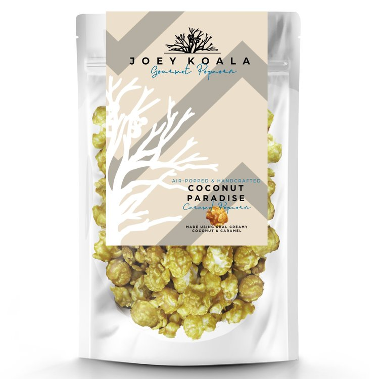 Air-Popped 'Coconut Paradise' Caramel Gourmet Popcorn 80g