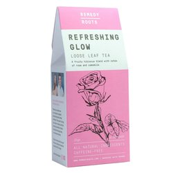 Caffeine-Free 'Refreshing Glow' Loose Leaf Herbal Fruit Tea with Rose & Chamomile 25g