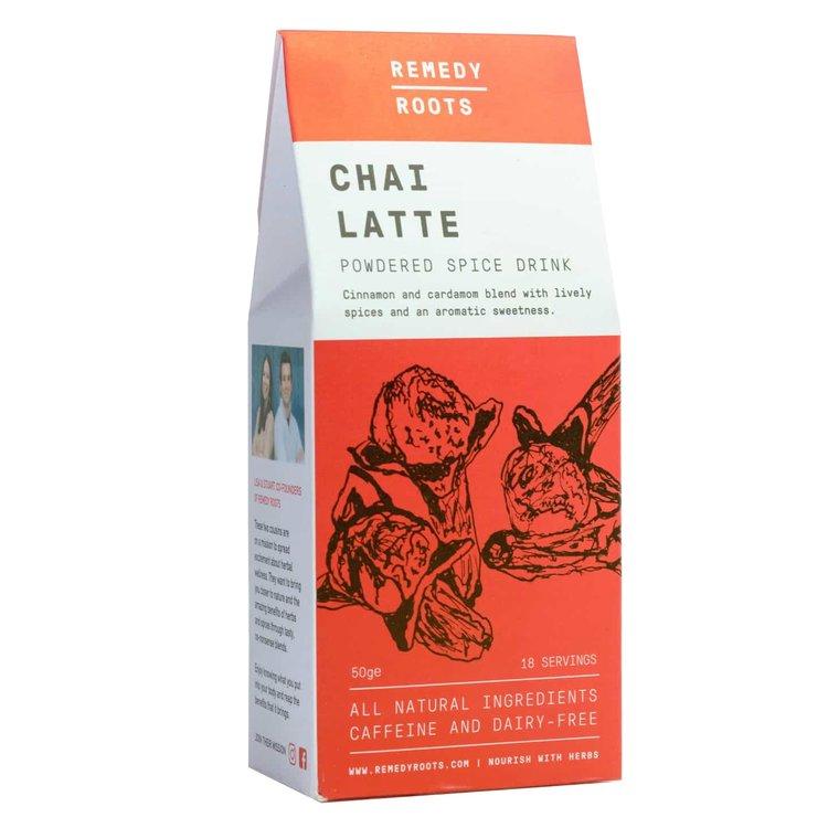 Dairy-Free Chai Latte Spice Drink Blend with Cinnamon & Cardamom 50g (Caffeine Free)