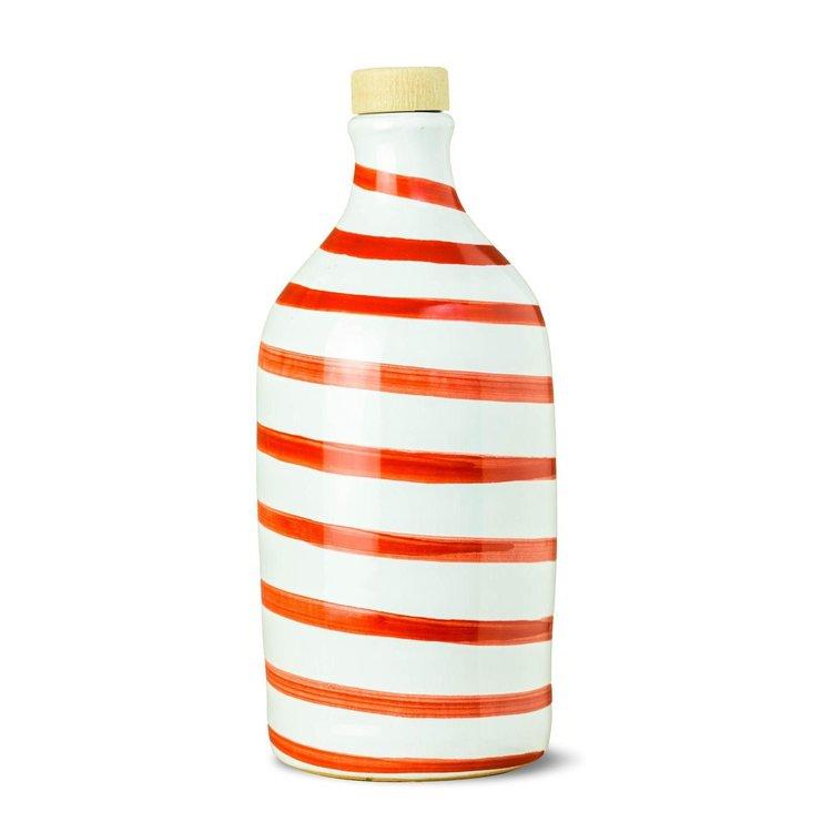 Italian Coratina Extra Virgin Olive Oil in Red Capri Ceramic Bottle by Frantoio Muraglia 500ml