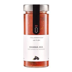 'Mamma Mia' Natural Tomato Sauce with Aubergine 280g