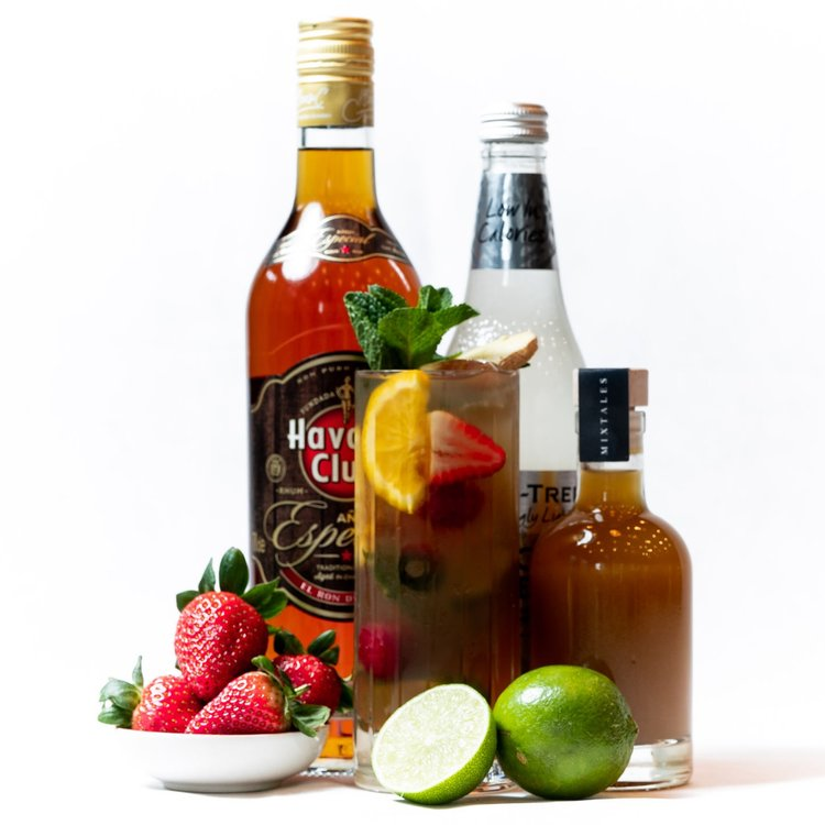 'Rum Punch' Cocktail Gift Kit Inc. Havana Especial Rum, Elderflower Syrup & Apple & Lime Juice