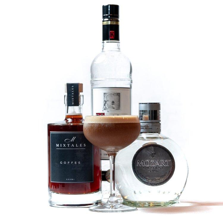 'Mocha Tini' Cocktail Gift Kit Inc. Ketel 1 & Mozart Chocolate Vodkas, Coffee & Vanilla Syrup