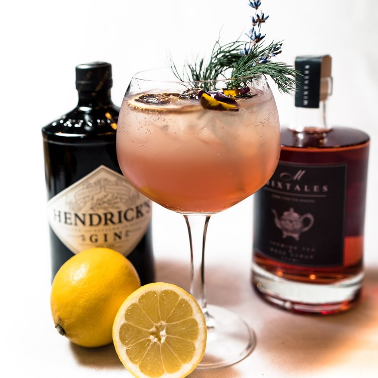 'Summer Fusion' Cocktial Gift Kit Inc. Hendricks Gin, Rose Syrup & Crème de Cassis