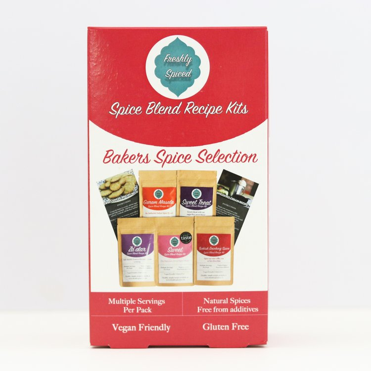 'Bakers Spice Blends' Selection Gift Box Inc. Sweet Spice, Za'atar & Garam Masala Blends
