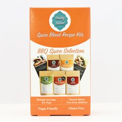 BBQ Spice Blend Selection Gift Box Inc. Tandoori, Spiced Burger & Jerk Blends