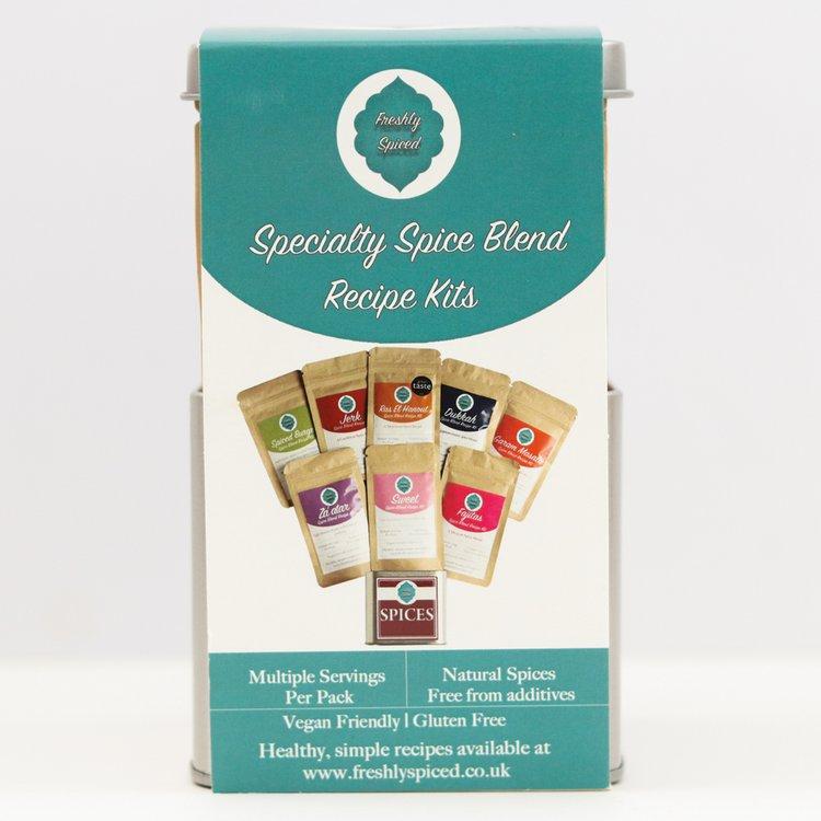 8 'Specialty Spice Blend' Gift Set Inc. Ras El Hanout, Garam Masala, Dukkah & Fajita Blends