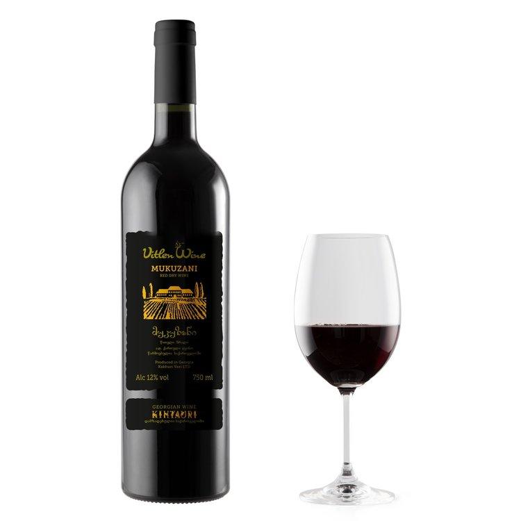 Mukuzani Dry Georgian Red Wine 75cl