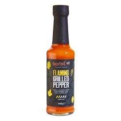 Hot 'Flaming' Grilled Pepper & Chilli Sauce 160g (Vegan)