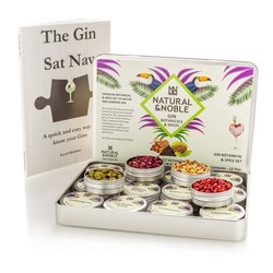 12 Botanical Gin Infusion Tins Gift Set with Gin Tasting Book
