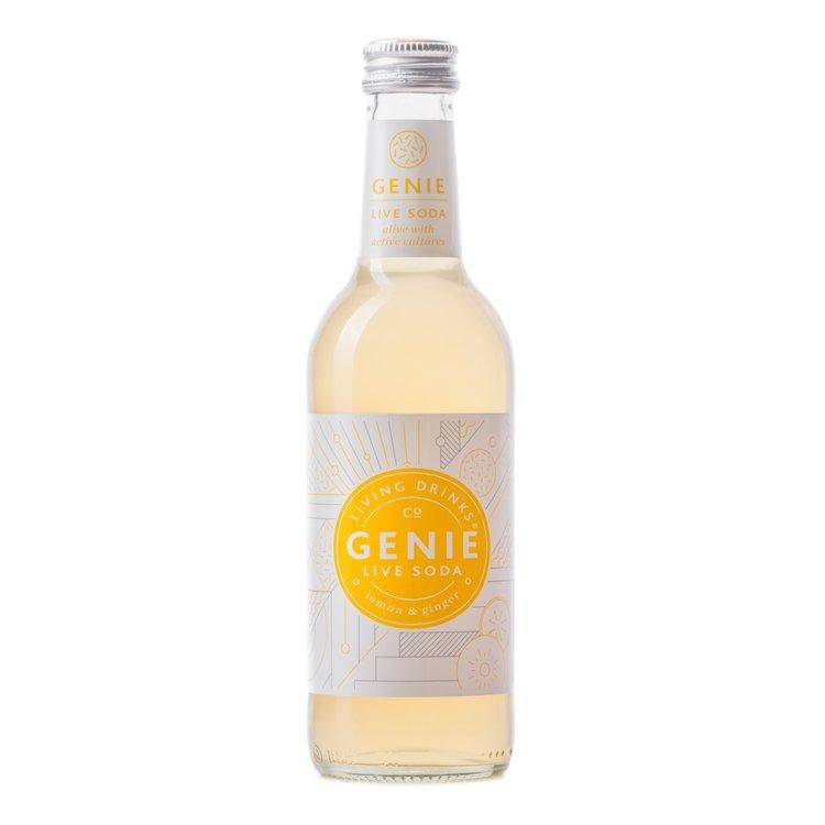 12 Lemon & Ginger Sparkling Soda Drink with Live Cultures (12 x 330ml)(Vegan)