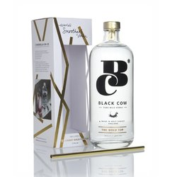 Black Cow Premium Pure Milk Vodka Gift Box with Gold Plated Reusable Straw