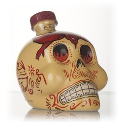 Finos Kah Reposado Tequila in 'Day of the Dead' Painted Skull Shaped Bottle 70cl 40% ABV
