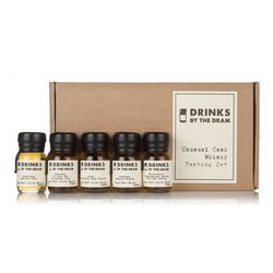 Unusual Cask Whisky Miniatures Tasting Gift Set Inc. Arran, Glenfiddich & Laphroaig Whiskies