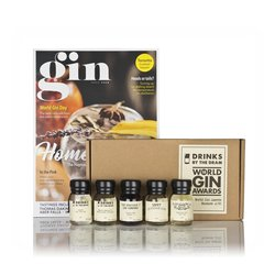 2018 World Gin Award Winning Miniatures Tasting Gift Set Inc. Hernö, Bathtub & Cherry Gins