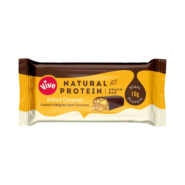 12 x Salted Caramel & Dark Chocolate Coated Vegan Protein Snack Bar (12 x 49g)