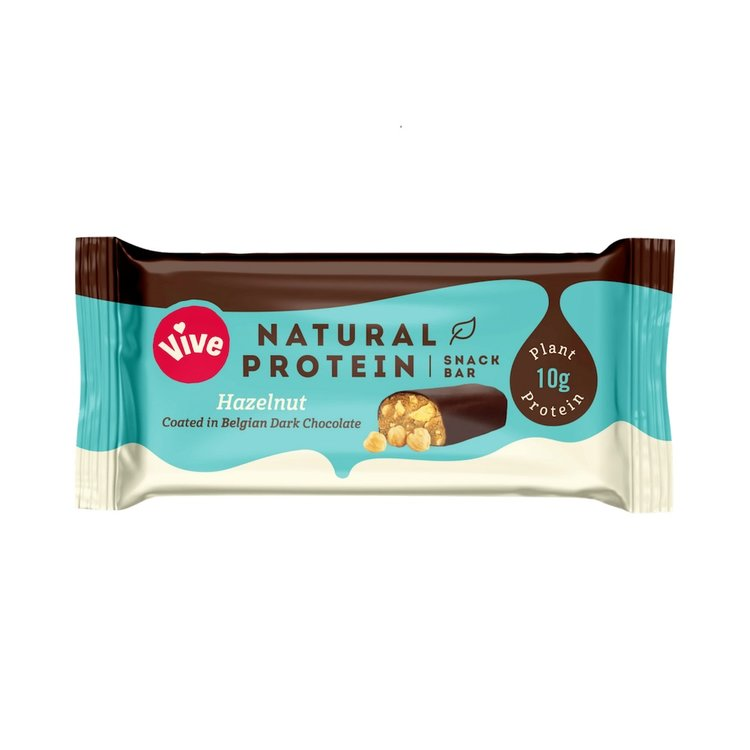 12 x Hazelnut & Dark Chocolate Coated Vegan Protein Snack Bar (12 x 50g)
